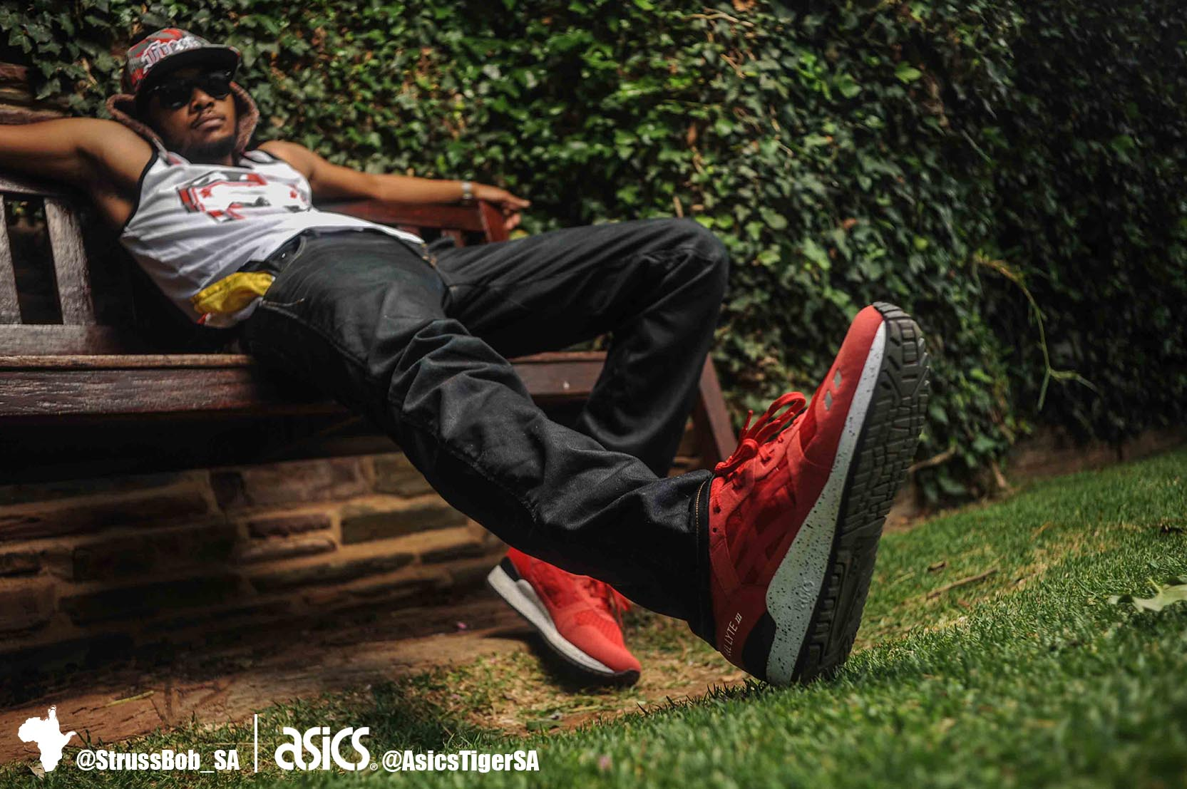 asics x strussbob shoot 12 black