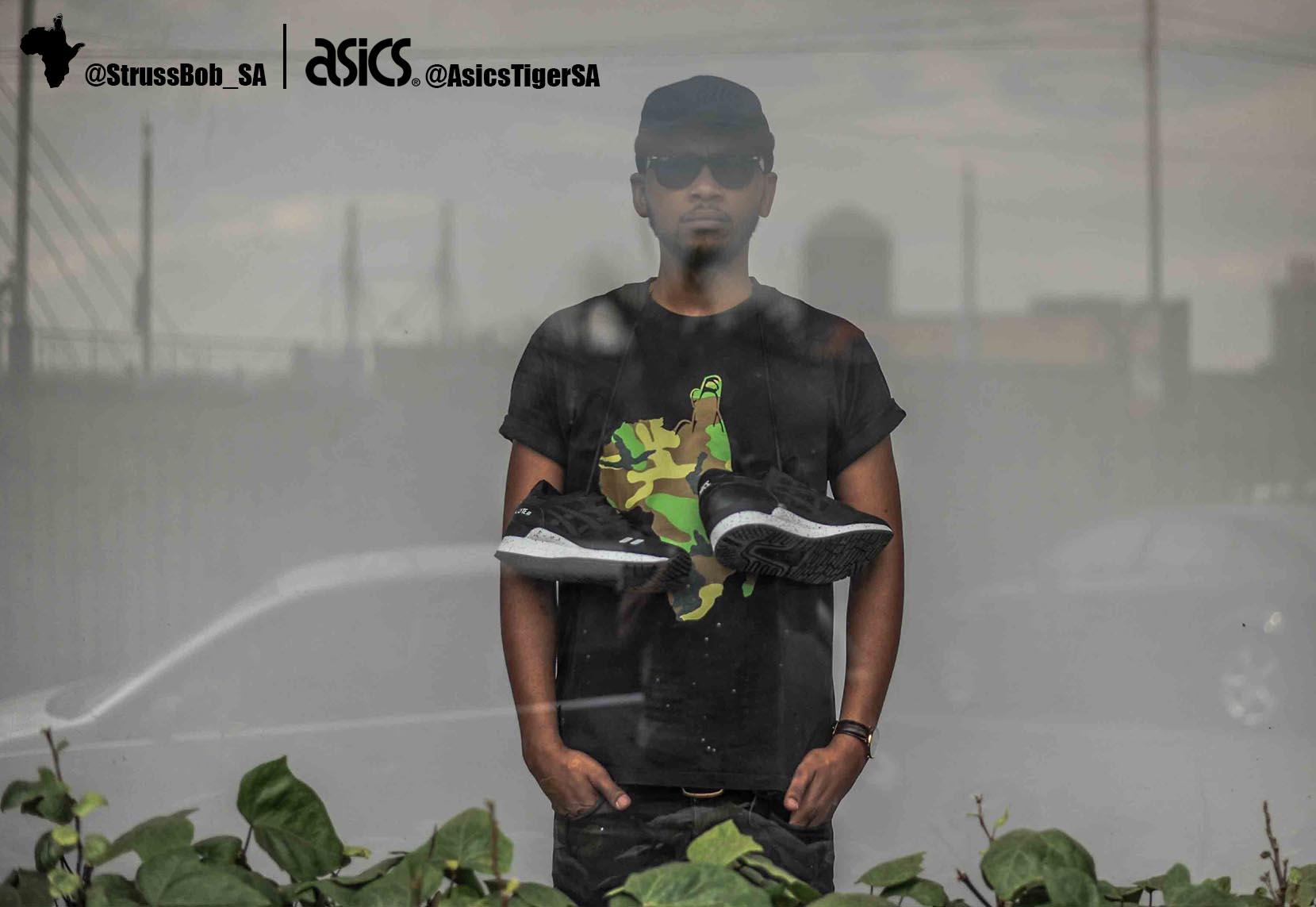 asics x strussbob shoot 5  black