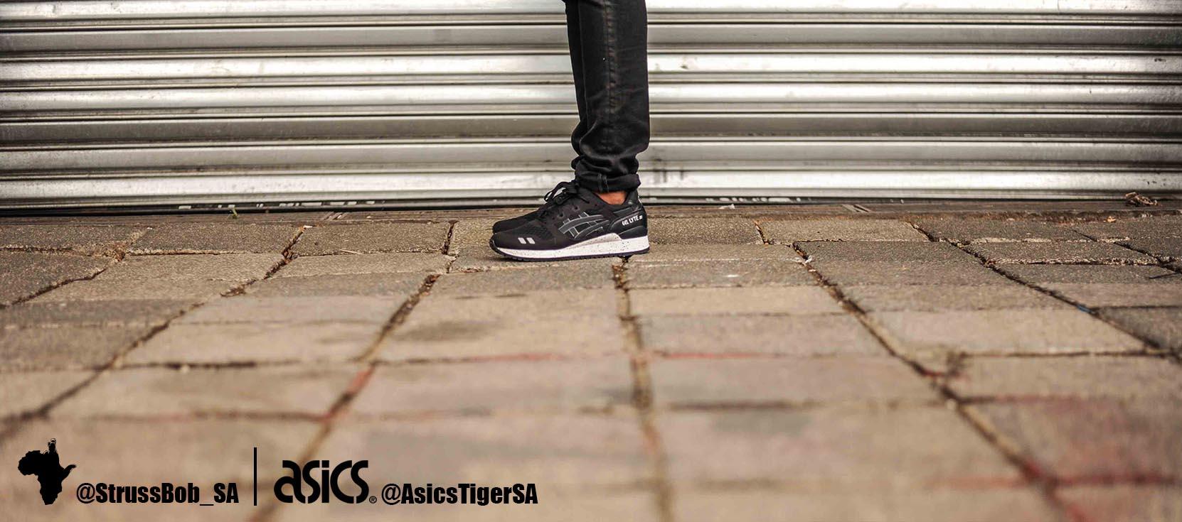 asics x strussbob shoot 6  black