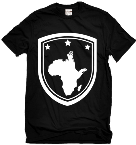 StrussBob Black shield t-shirt