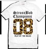 StrussBob 08 Champions Leopard print white t-shirt