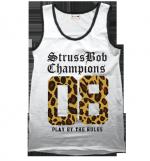 Strussbob 08 Champions Leopard print white vest